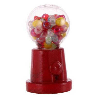 Mini Candy Gum Ball Vending Machine Toy Gift for Dollhouse Miniature ACCS