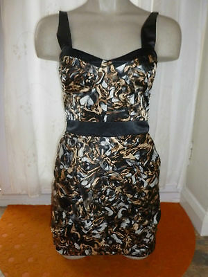 6f24d9c341de Lipsy Dress Size 8 BNWT RRP £60 'Blaze' Black Gold Silver Party Wedding