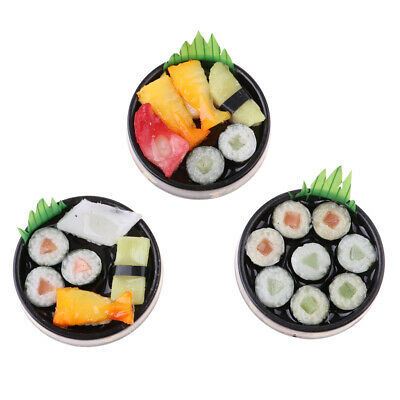 3PCS 1:6 Doll House Miniature Decoration Vivid Japanese Food Model Sushi