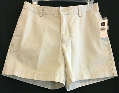 Women's Clothing Gap Womens Shorts 6 White Walking Bermuda Khaki Chino Low Rise Flat Front Cotton Orders Are Welcome. Clothing, Shoes & Accessories