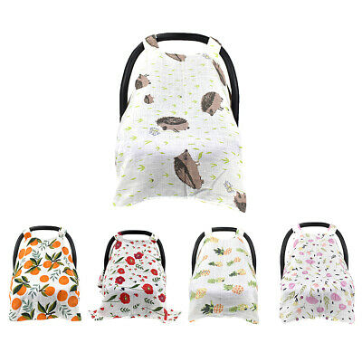 2in1 Nursing Scarf Cover Up Apron for Breastfeeding & Baby Car Canopy Cover