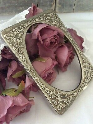 Antique French Ormolu pressed metal Picture mount ~ Lovely Repousse arc e'ternal