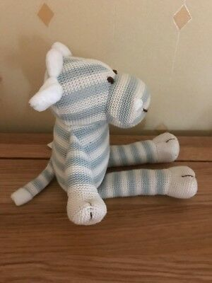 """Tiny Treasures Blue & White Striped Giraffe Soft Toy 10"""" approx card factory New"""
