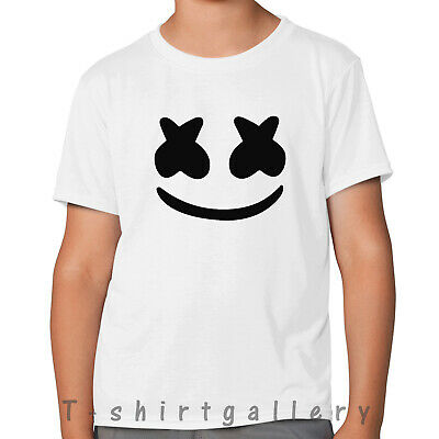 DJ Marshmello Face Mask Kids Boys Girls Adults T-Shirt