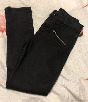 Denim Co Girls Black Sparkle Skinny Jeans, Age 10-11 Years - Fab!