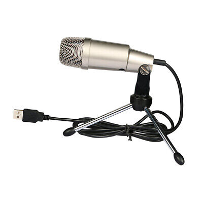 USB Condenser Microphone Plug&Play Home Studio Mic for Aduio Sound Recording