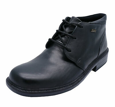 Mens Black Leather Cotswold Waterproof Ankle Lace-Up Boots Shoes Sizes 8-12