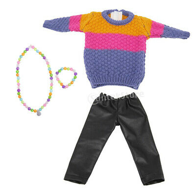 Fashionable Doll Two-piece Outfits and Accessories for 18 inch AG American Doll