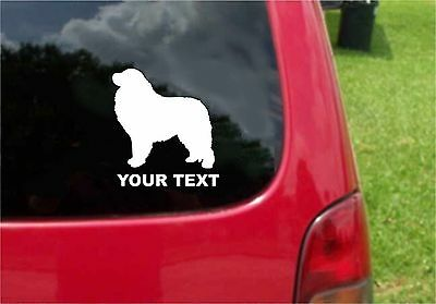 2 (PCS) Great Pyrenees Dog Decals with custom text 20 Colors To Choose From
