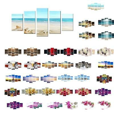 5pcs/Set Modern Colorful Abstract Art Canvas Painting Wall Print Picture Decor