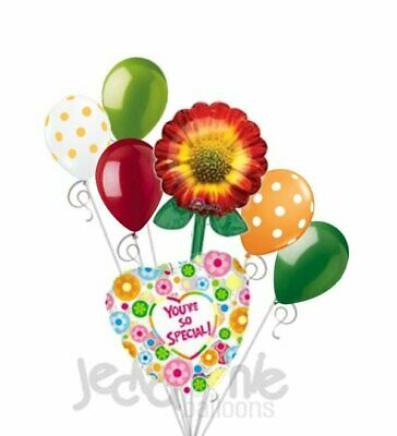 7 pc Happy Mother/'s Day Sunflower /& Dasies Balloon Bouquet Party Decoration Mom