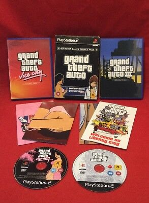 Grand Theft Auto Double Pack Vice City GTA3 - PLAYSTATION 2 PS2 - PAL - Tested
