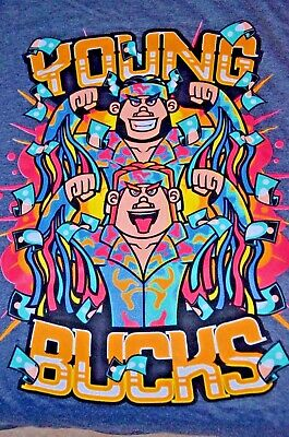 Wrestling THE YOUNG BUCKS Wrestle Crate T-shirt Size XL new WWE NXT ROH AEW NJPW