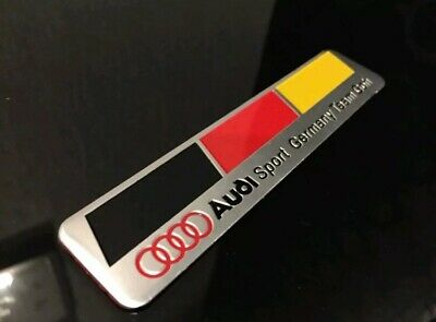 Limited Edition!! Audi Team Goh Badge Metal Aluminium! Suitable For All Models