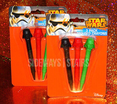 STAR WARS MOLDED CRAYONS Darth Vader helmet shaped 2 PACKS arts crafts rare NEW