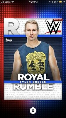 Topps Slam Attax Live-Carte 143-Tyler Breeze-Raw