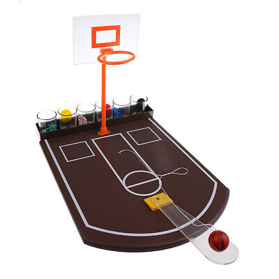 Mini Tabletop Basketball Shot Glass Drinking Game for Adult Family Party Fun