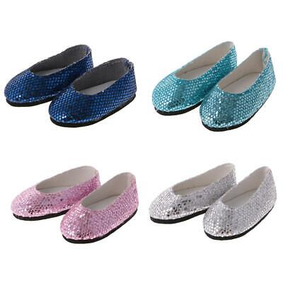 Cute Bling Bling Sequins Shoes Fit for 14'' AG American Doll Wellie Wisher Dolls
