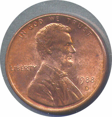 1988-D Lincoln Memorial Cent RDV-006, WTRD-009, FS-901 - UNC R&B