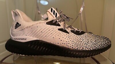 beec90bf074ad ⚡️ADIDAS ALPHABOUNCE EM Running Shoes White Black Men Size 12.5 ...