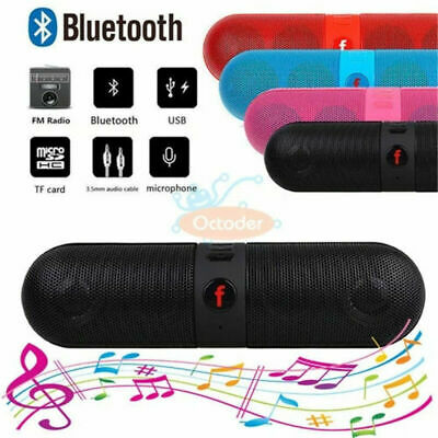 Portable Pill Wireless Bluetooth Outdoor Speaker Supports FM TF Card USB UK VHS