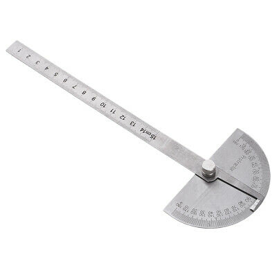 Steel 180 Degree Rotary Protractor Round Head Solid Angle Ruler for Students