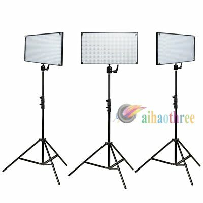 3Pcs LED508AS LED Bi-Color Dimmable Photo Studio Video Lighting + 2m Light Stand