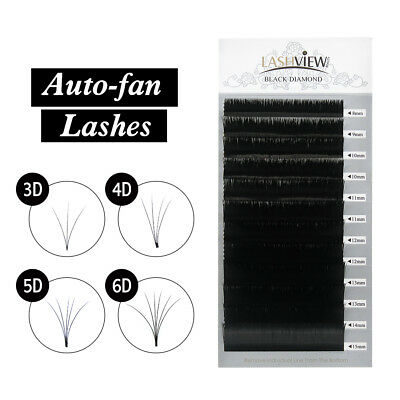 Lashview 1's Fast Fan Eyelash Extensions 0.03 Auto-fan Super Volume Eyelashes