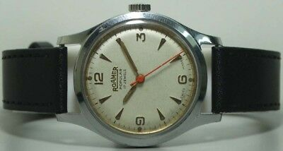 Vintage Roamer Winding Swiss Made Wrist Watch s432 Old Used Antique