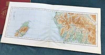 THE LAKE DISTRICT, WESTMORELAND & THE ISLE OF MAN, 1922 - Cloth OS map.
