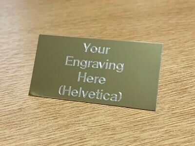 Engraved Trophy Plates & Plaques,  self adhesive back in Gold or Silver