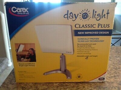 Carex Day Light Classic Plus Bright Light Therapy Lamp, 10,000 LUX