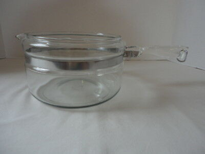 Vintage Pyrex Flameware Glass Double Boiler # 6324B 2 QT BOTTOM Only Replacement