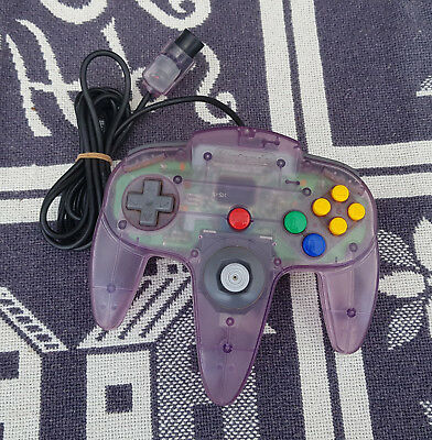 Original Controller Nintendo 64 N64 TRANSPARENT CLEAR BLUE LILA