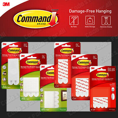 3M Command Picture Poster Hanging Adhesive Strips Small Medium Large