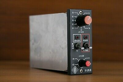 Neumann V476b vintage microphone preamp, fresh service with full recap.