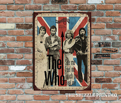 The Who Concert Stone Henge Retro Metal Advertising Poster Wall Sign