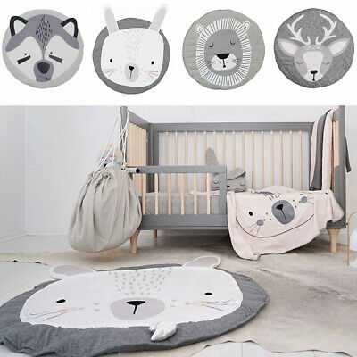 Kids Baby Soft Cotton Floor Mat Gym Play Game Rug Activity Crawling Blanket