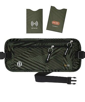 Travel Money Belt RFID Security Wallet Waist Pack Hidden Pocket Safe Unisex