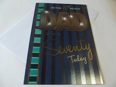 On Your 70th Birthday Dad......Larger Birthday Greetings Card