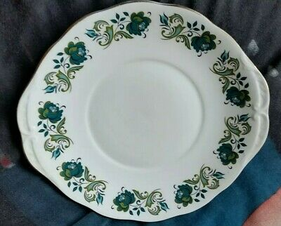 Queen Anne Ridgways Potteries Fine Bone China Cake Plate Serving Platter