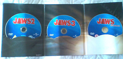 (DISCS ONLY) Jaws 2 + Jaws 3 + Jaws the revenge - 3 movies,3 dvd (DISCS ONLY)
