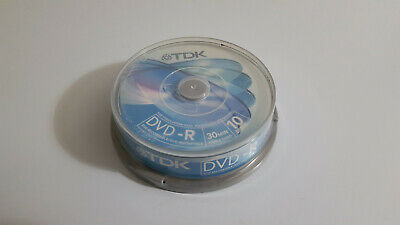 Tdk Dvd-R 1.4 Gb/30 Minutes 10 Discs Container For Videocamera / New & Sealed