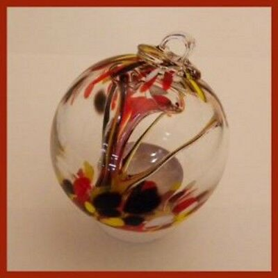 """Hanging Glass Ball 3"""" Diameter """"Autumn Tree"""" Witch Ball (1) 3IN#112"""