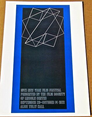 Josef Albers for 10th New York Film Festival  Offset Lithograph 16X11 LC