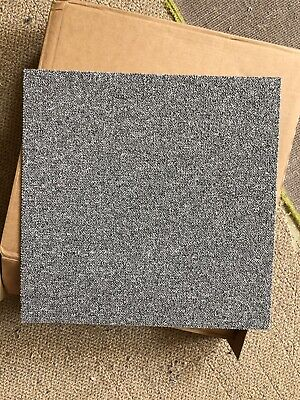 20 x Carpet Tiles 5m2 Box Heavy Duty Commercial Retail Office Grey