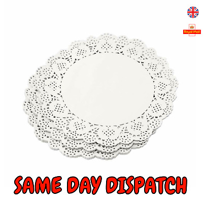 50 pcs Paper Party Doilies Doily Lace Doyleys Catering Wedding Round tea Food