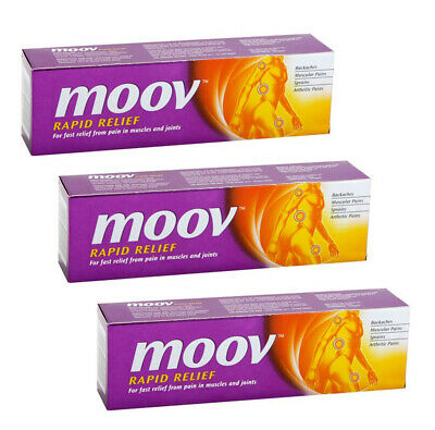3 x Moov Rapid Relief | Fast Relief From Pain In Muscles And Joints  50gm