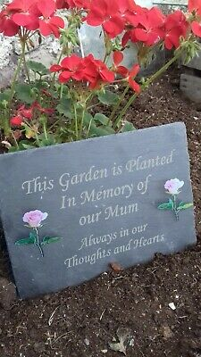 Memorial Marker Plaque Personalised Engraved Grave Stone Slate Marker Headstone