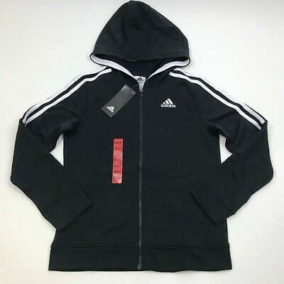 NWT Youth ADIDAS Separates training Track hoodie jacket Full Zip w hood M AP5434
